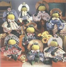 Pattern Primitive Frog Doll Girl Frog Dolls Uncut Oop Simplicity Many Versions