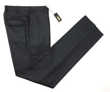 $1950 NWT ZILLI Charcoal Cashmere All Season Flannel Flat Front Pants 46 32 / 30