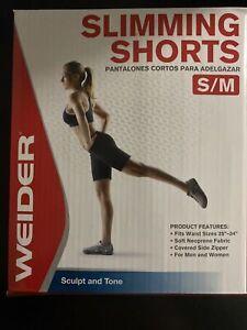 NEW! Weider Slimming Shorts Size S/M Sculpt & Tone Men & Women