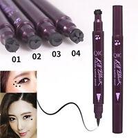 Double Head Liquid Eyeliner Tattoo Stamp Liner Pencil Makeup Beauty Waterproof&