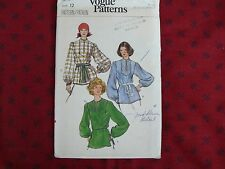 Vintage Vogue 9565 hippy tunic top blouse Sewing Pattern size 12