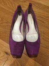 Lavorazione Artigiana Purple Ballerina Shoes Flats 39 UK 6 Made In Italy