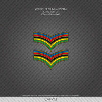 0473 World Champion Stripes Bands - Bicycle Decals Stickers
