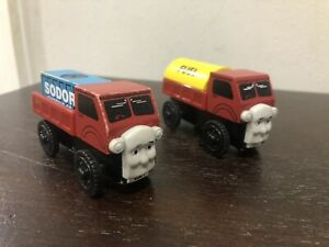 Rare! Thomas & Friends Wooden Railway Lot Lorry 1 & 2 With Cargo