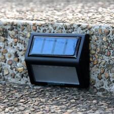 6-LED Solar Power Wall Mount Light Waterproof Garden Fence Yard White Lamp