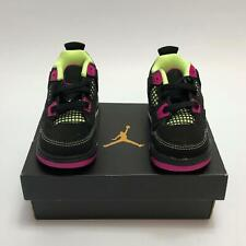 Jordan 4 Retro GT Toddler Girls Black/ Fuchsia Size 6c Sneakers NEW