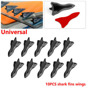 Vortex Generator Diffuser Shark Fin Set For Wing Spoiler Roof Windshield Durable