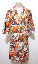 CULT VINTAGE '70 Abito Vestito Donna Flower Jersey Woman Dress Sz.XS - 38