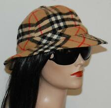 BURBERRY Fedora  Bucket Safari Nova Check Wool Hat