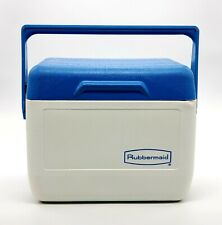 New listing Vintage Rubbermaid Gott Lunch Box Personal Cooler Ice Chest Blue White 1806 6 Qt