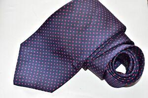 Men's Paul Stuart Dots Blue All Silk From England
