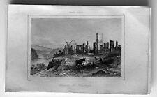 1837 La Rochelle Antique Print Ruins of Fort Ticonderoga, Fort Carillon New York