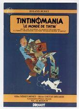 Carte postale Tintin. Carte annonçant la première vente aux enchères TINTIN 1990