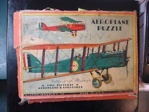 BC31 Vintage 1930's Milton Bradley Jigsaw Puzzle - Aeroplane Puzzle