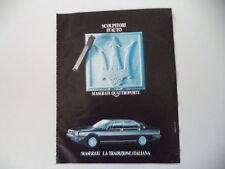 advertising Pubblicità 1984 MASERATI QUATTROPORTE