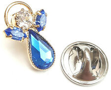 Message Angel Birthstone Sapphire Crystal Pin Badge