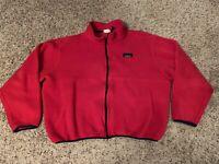 LL Bean Full Zip Thick Fleece Zip Jacket Red Women's Size XLarge XL