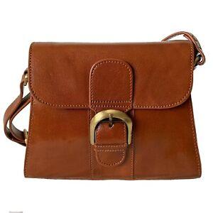 Rowallan Tan Leather Shoulder Bag, Cross Body Bag