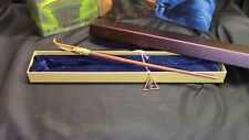 Harry Potter - Nicholas Flamel Wand w/ Free Deathly Hallow Necklace