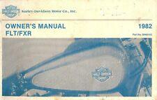 1982 HARLEY-DAVIDSON FLT-FXR-FXRS OWNERS MANUAL