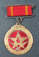 Original North Vietnam Enamel Gold plated Medal, Brass Fortress of Fatherland