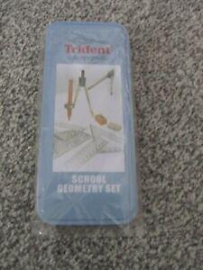 Trident School Geometry Set in metal tin