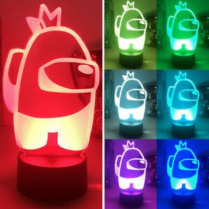Among Us 3D Illusion LED Night Light Acrylic Colourful Touch Lamp Kids Xmas Gift