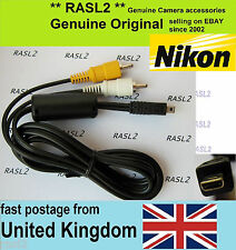 Genuine NIKON Audio Video Cable Av D3200 D5000 D5100 P6000 P7000 P7100 P7700
