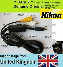 Genuine NIKON audio video AV cable D3200 D5000 D5100 P6000 P7000 P7100 P7700