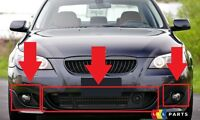 BMW NEW GENUINE 5 E60 E61 2003 - 2010 M SPORT FRONT BUMPER LOWER GRILLS SET