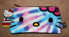 Loungefly x HELLO KITTY Sanrio Tie-Dye Pencil Case bag NEW WITH TAGS cosmetics