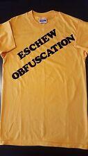 VTG 80s Eschew Obfuscation Iron-On T-Shirt Writing Writer Author English Teacher