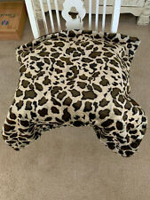 "Leopard Print Faux Fur Pillow Case. Excellent Quality. Hand made.29""X28"""