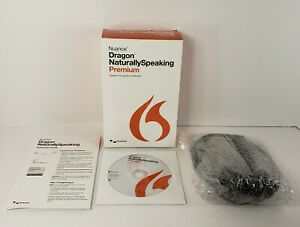 Nuance Dragon Naturally Speaking Premium 13 w/ Headset Discontinued Original Box