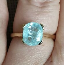 2.5ct Certified Natural Copper bearing neon blue Paraiba tourmaline gold ring