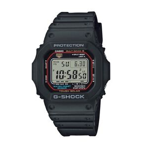 Casio G-Shock Men Watch GW-M5610U-1ER Black Red Sport World Timer Tough Solar