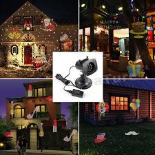 Outdoor LED Image Motion Projection Landscape Light With 12 Festival Slides Xmas