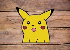 Pikachu Meme Inspired Print Pokemon Funny Laptop Wall Art Decor Vinyl Sticker