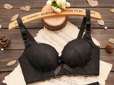 New Women Deep V no Underwire Lace Bra Push Up Brassiere 34 36 38 Cup A B  DE55