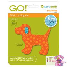 Accuquilt GO! Fabric Cutter Die Gingham Dog Big & Baby 55064