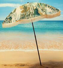 "Vintage Classic Palm Print  Beach Umbrella by beachBRELLA®  60""round 100% UV"