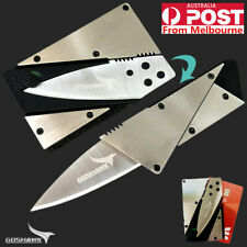 Survival Multi Tool Card Credit Card Pocket Safety Leather Cover Tool