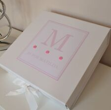 Large Girls Personalised Keepsake Memory Box Baby Birth Christening Birthday