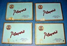 4 Antique Vintage Players Cigarette Tin Navy Cut Mild 50 Flat Tobacco Tobacciana