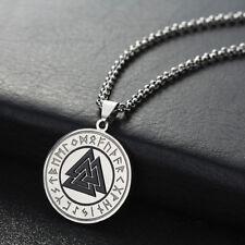 Valknut Odin's Warrior Symbol Necklace Stainless Steel