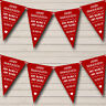 Vintage Just Married Dark Claret Red Personalised Wedding Bunting Party Banner