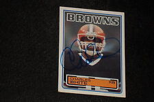 CHARLES WHITE 1983 TOPPS SIGNED AUTOGRAPHED CARD #259 1979 HEISMAN WINNER