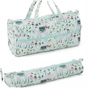 Knitting Bag /Sewing Bag with Matching Needle Holder 100% Llama Alpaca Design