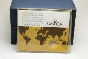 Genuine Omega International Guarantee Booklet & Plastic Wallet