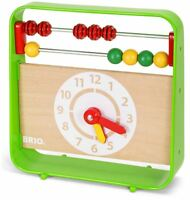 Brio ABACUS WITH CLOCK Baby Infant Toddler Wooden Toy BN